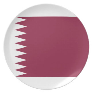 Prato Bandeira nacional do mundo de Qatar