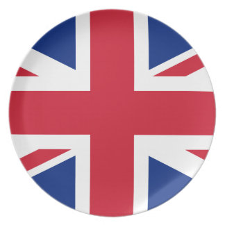 Prato Bandeira nacional do mundo de Reino Unido