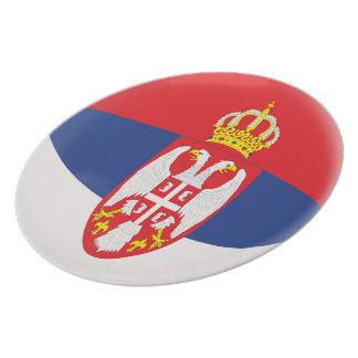 Prato Bandeira sérvio de Serbia
