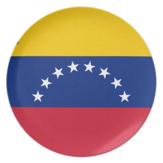 Prato Bandeira venezuelana - bandeira de Venezuela -