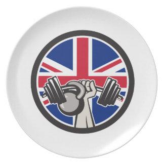 Prato Barbell britânico Kettlebell Union Jack Fl do