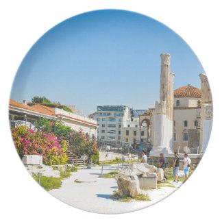 Prato Biblioteca de Hadrian em Atenas, piscina