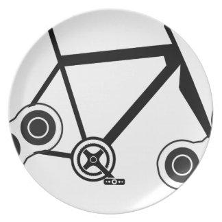 Prato Bicicleta do girador da inquietação