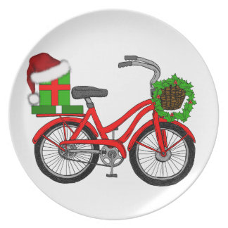 Prato bicicleta do xmas
