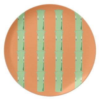 Prato Bio elementos de bambu do design