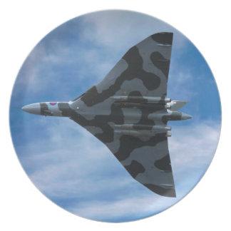 Prato Bombardeiro de Vulcan em vôo
