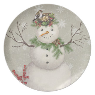 Prato boneco de neve moderno do wintergarden do vintage