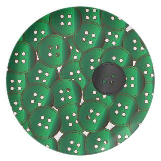 Prato Botões verdes