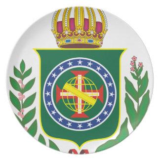 Prato Brasão Império do Brasil