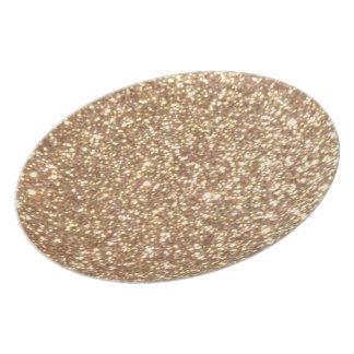 Prato Brilho metálico do ouro cor-de-rosa do cobre