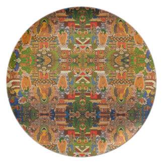 Prato Budismo budista de Buddha que abençoa o Bohemian