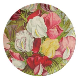 Prato Buquê de flores da ervilha doce