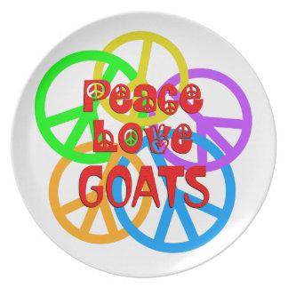 Prato Cabras do amor da paz