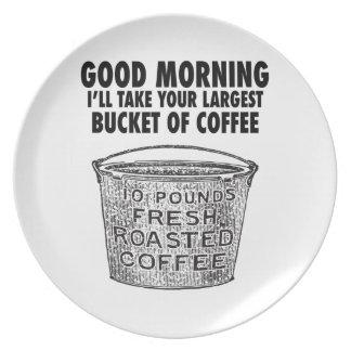 Prato Café pelo balde
