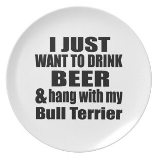 Prato Cair com meu bull terrier