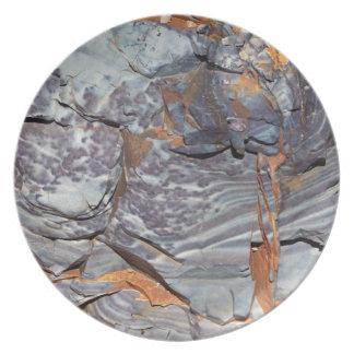 Prato Camadas naturais de ágata em um arenito