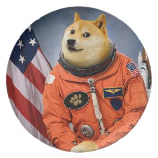 Prato cão do astronauta - doge - shibe - memes do doge