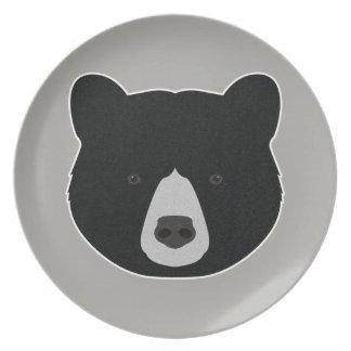 Prato Cara do urso preto