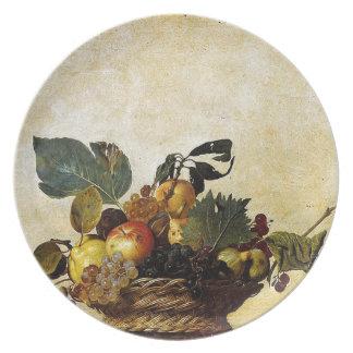 Prato Caravaggio - cesta da fruta - trabalhos de arte