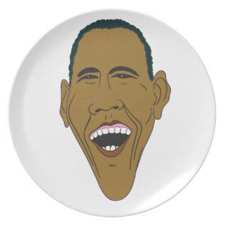 Prato Caricatura de Obama