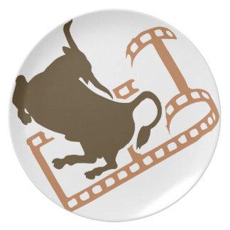 Prato Carretel de filme Bucking de Bull