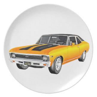 Prato Carro 1968 do músculo do ouro