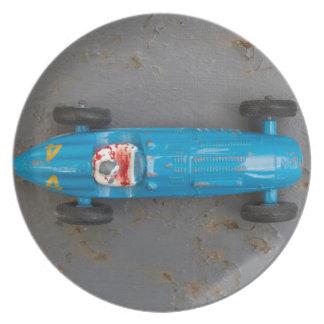 Prato Carro azul do brinquedo