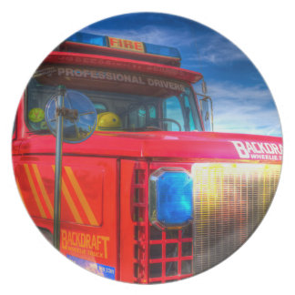 Prato Carro de bombeiros traseiro do esboço