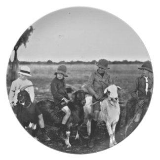 Prato Cavaleiros da cabra do passado