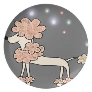 Prato Céu da galáxia do cão de caniche