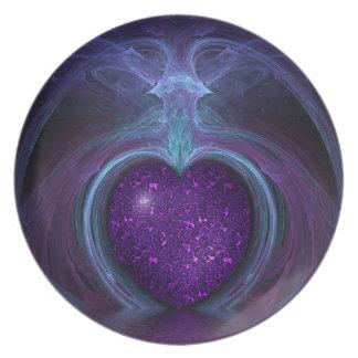 Prato Chama mágica & Mystical da fantasia do coração