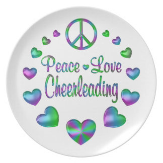 Prato Cheerleading do amor da paz