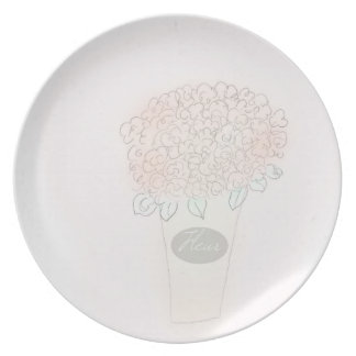 Prato Cheio do balde da placa da flor