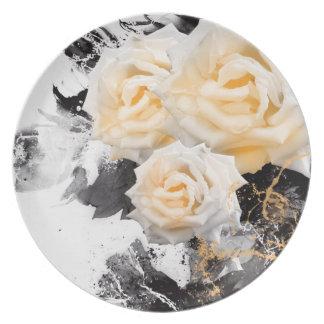 Prato Cheiro de Jitaku a placa da melamina dos rosas