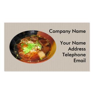 Prato chinês do macarronete da carne cartão de visita