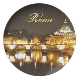 Prato Cidade do Vaticano, Roma, Italia na noite
