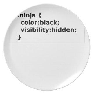 Prato Classe do CSS do codificador de Ninja