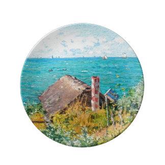 Prato Claude Monet a cabine em belas artes do