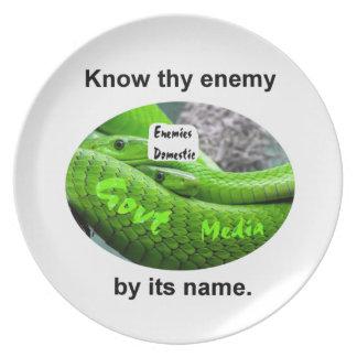 Prato Cobra da mamba - conheça Thy inimigo por seu nome