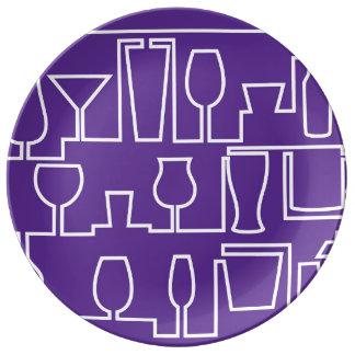 Prato Cocktail roxo
