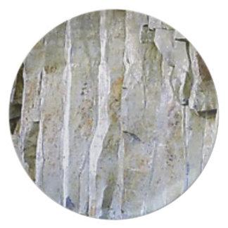 Prato Coluna branca estreita da rocha