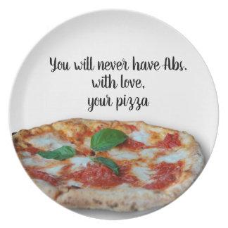 Prato Com amor, sua pizza - placa
