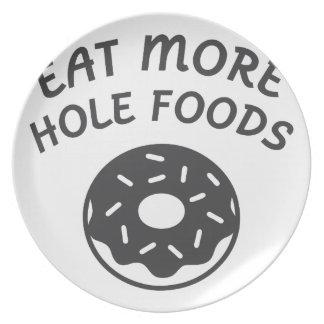 Prato Coma mais alimentos do furo
