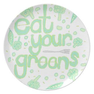 Prato coma seus verdes
