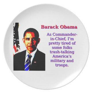 Prato Como o comandante-chefe - Barack Obama