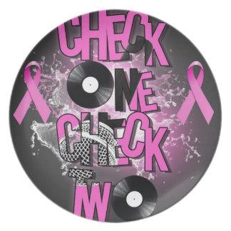 Prato Consciência do cancro da mama