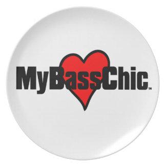 Prato Coração carmesim de MyBassChic (TM)