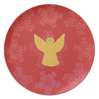 Prato Costume decorativo da placa do Natal