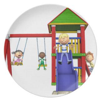 Prato Crianças dos desenhos animados em um campo de