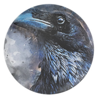 Prato #crow do pássaro do corvo